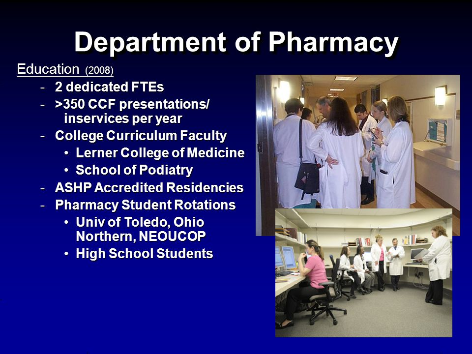 Department of Pharmacy