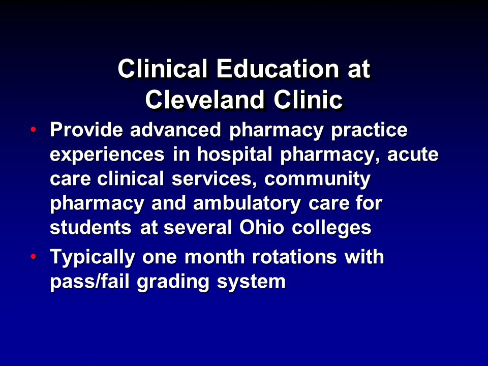 Clinical Education at Cleveland Clinic