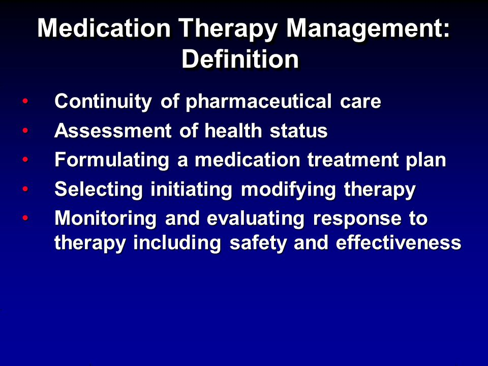 Medication Therapy Management: Definition