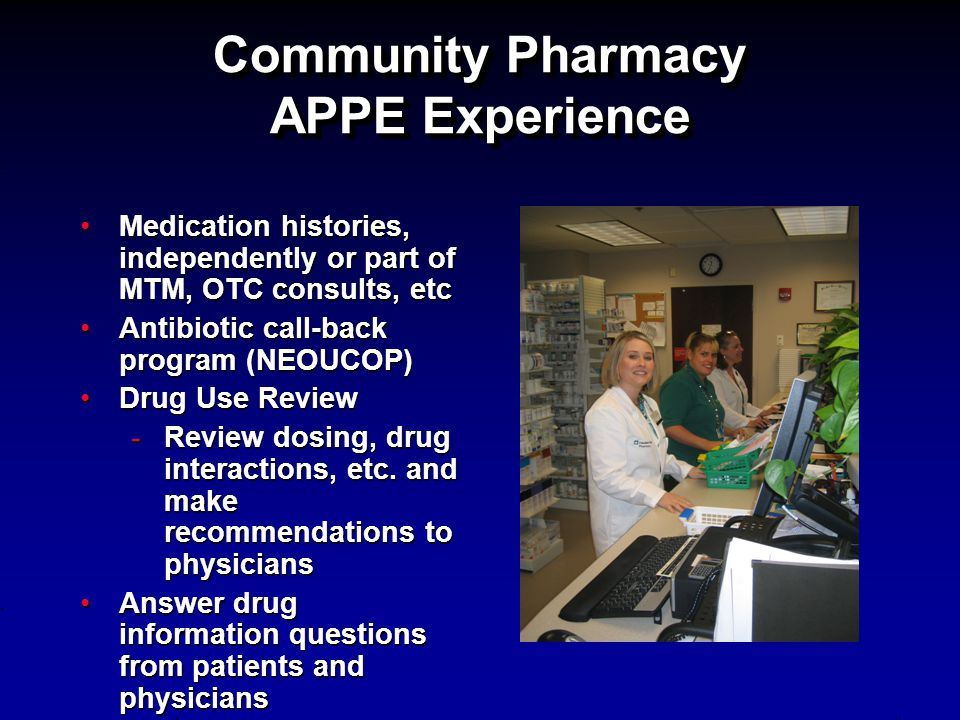 Community Pharmacy APPE Experience