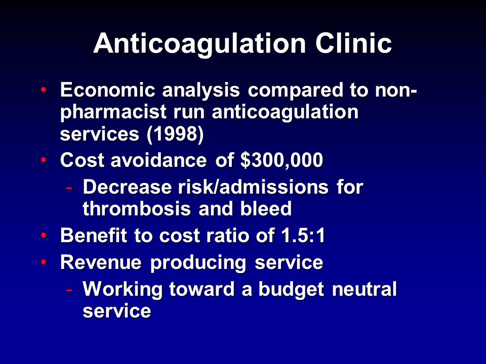 Anticoagulation Clinic