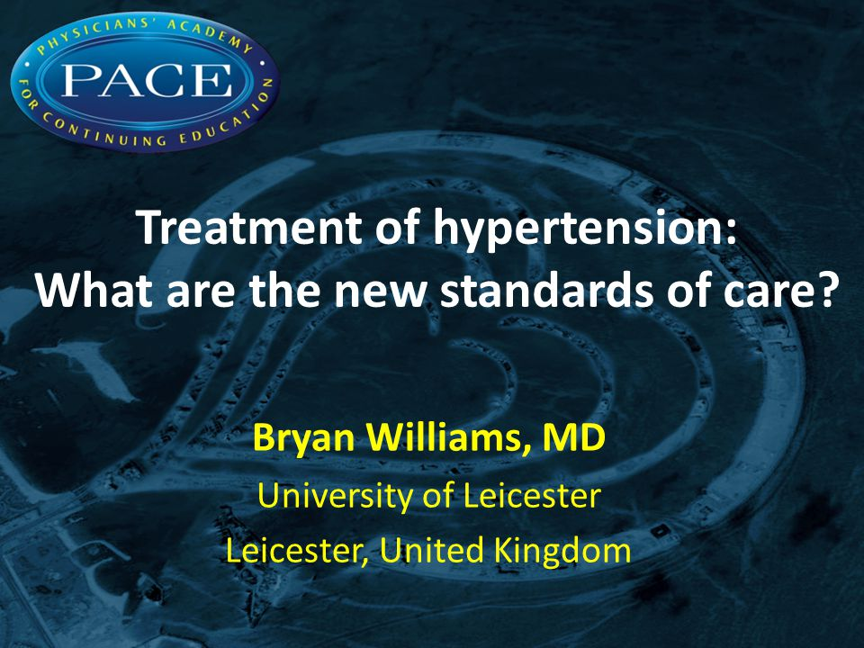 Treatment of hypertension: What are the new standards of care