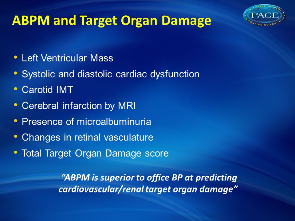 ABPM and Target Organ Damage