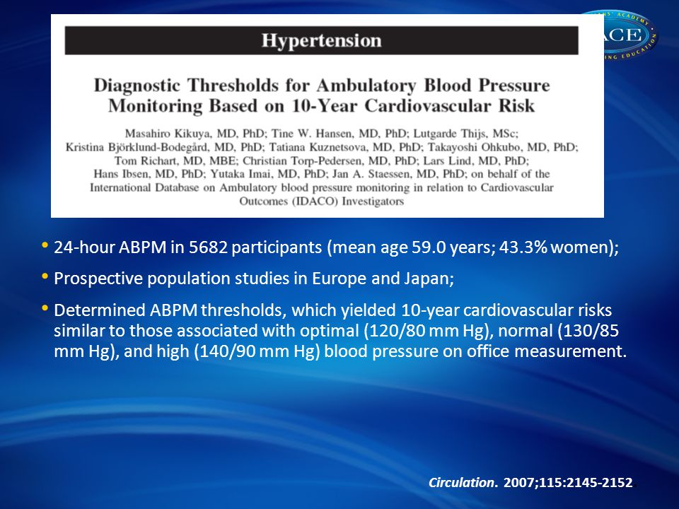 24-hour ABPM in 5682 participants (mean age 59.0 years; 43.3% women);