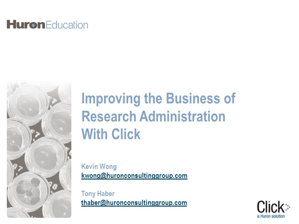 Improving the Business of Research Administration With Click