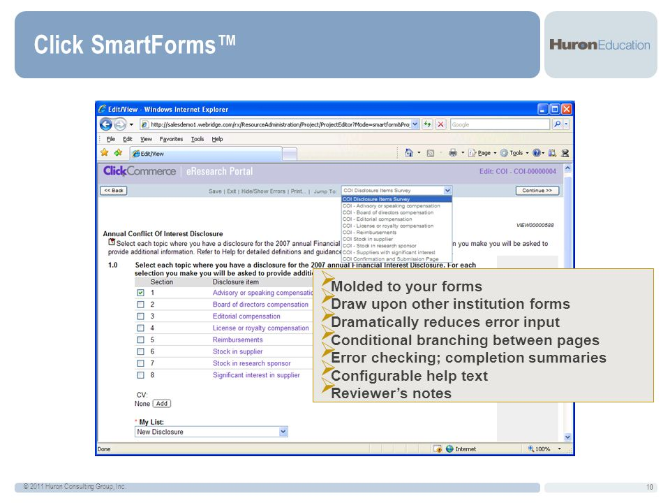 Click SmartForms™ Molded to your forms