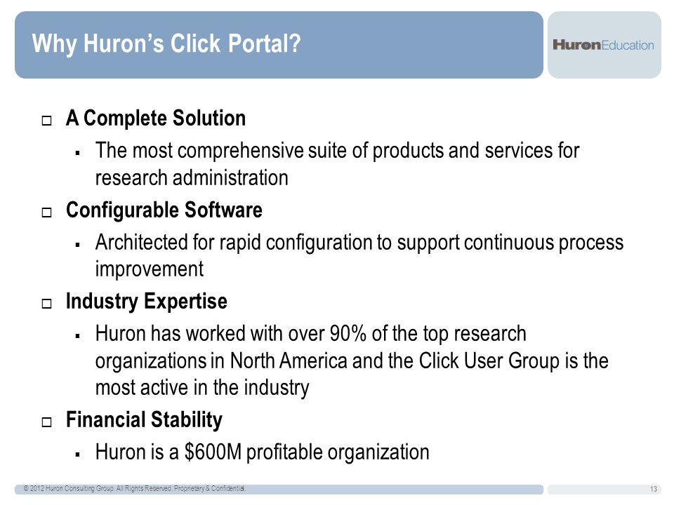Why Huron's Click Portal