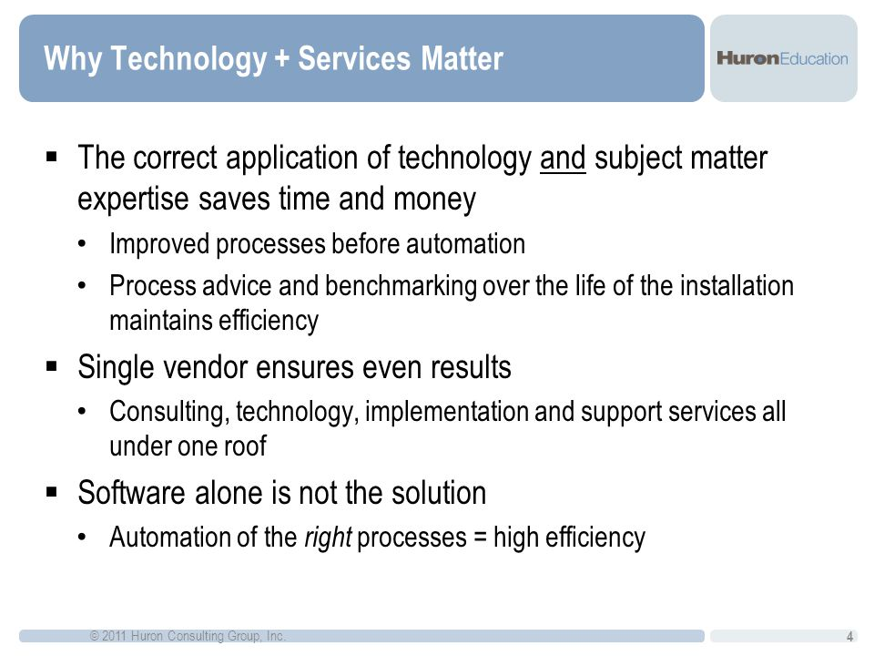 Why Technology + Services Matter