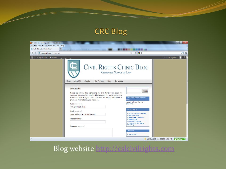 Blog website http://cslcivilrights.com