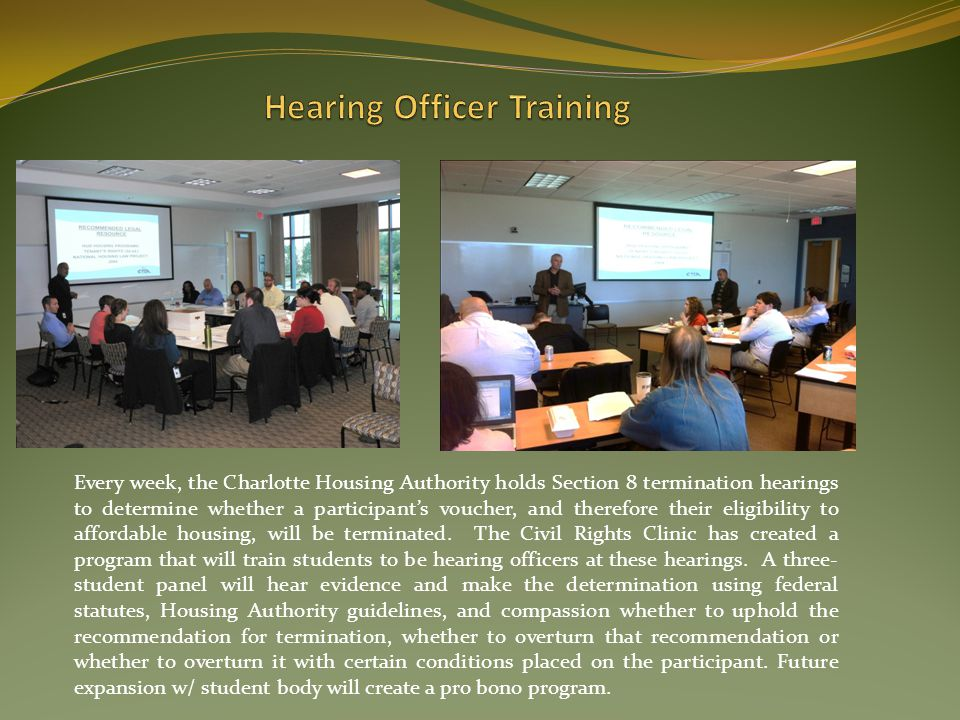 Hearing Officer Training