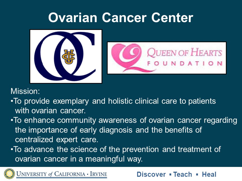 Ovarian Cancer Center Mission: