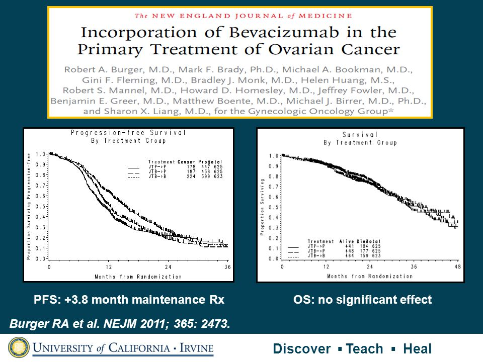 PFS: +3.8 month maintenance Rx OS: no significant effect