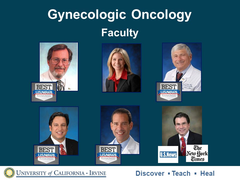 Gynecologic Oncology Faculty Discover ▪ Teach ▪ Heal