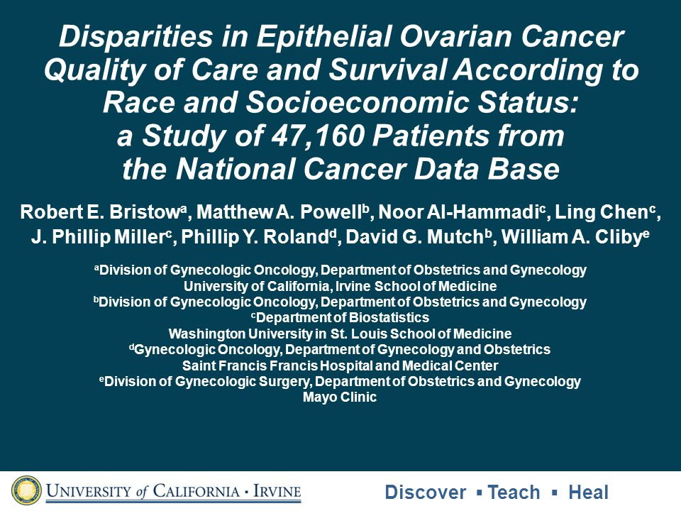 Disparities in Epithelial Ovarian Cancer