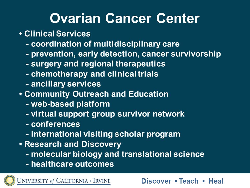 Ovarian Cancer Center • Clinical Services