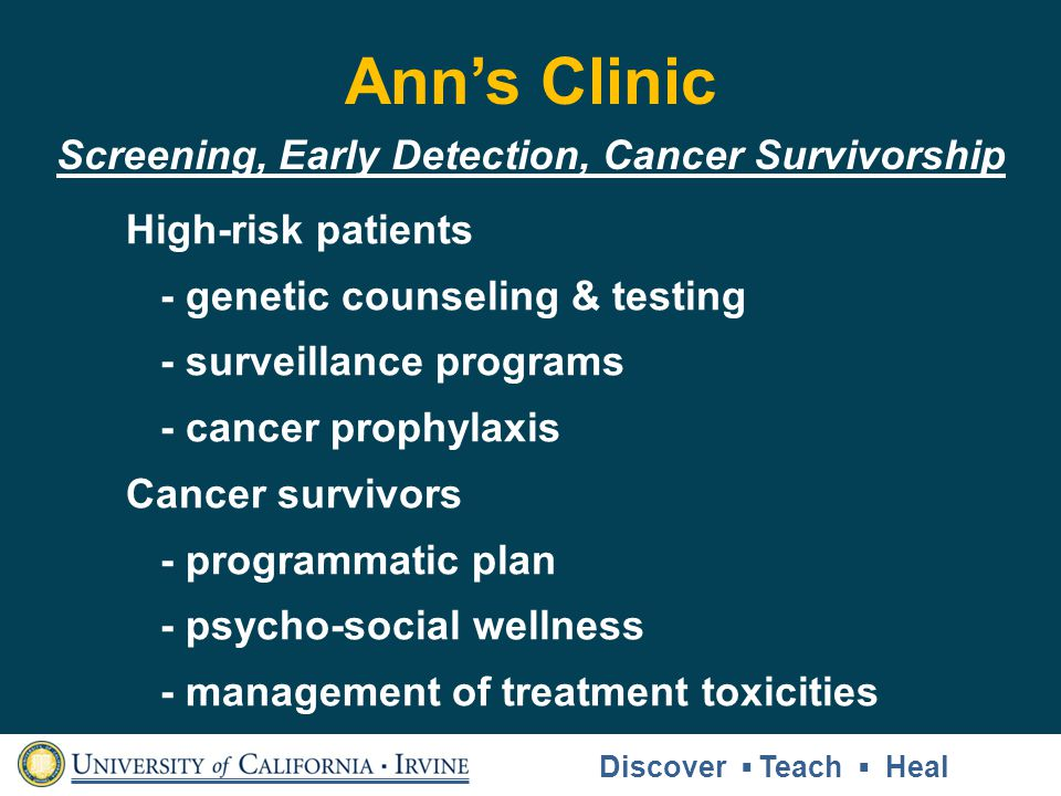 Screening, Early Detection, Cancer Survivorship