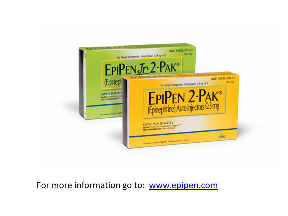 For more information go to: www.epipen.com