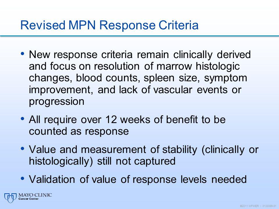 Revised MPN Response Criteria