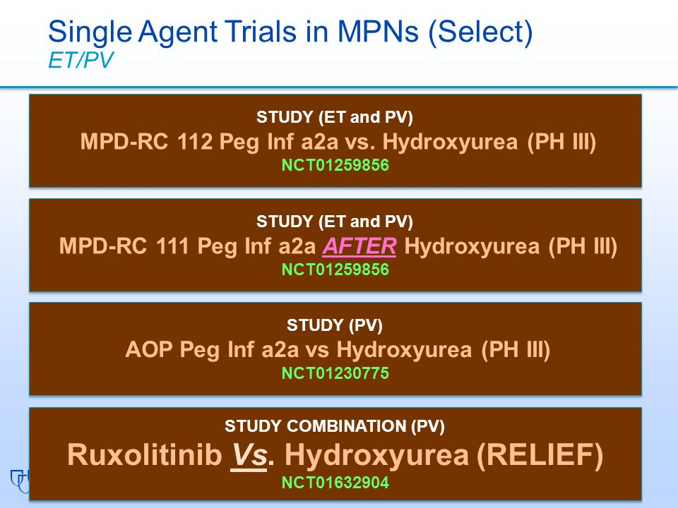 Ruxolitinib Vs. Hydroxyurea (RELIEF)
