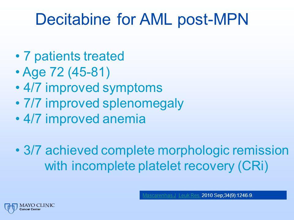 Decitabine for AML post-MPN