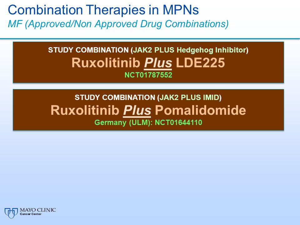 Ruxolitinib Plus LDE225 Ruxolitinib Plus Pomalidomide