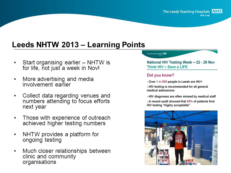 Leeds NHTW 2013 – Learning Points