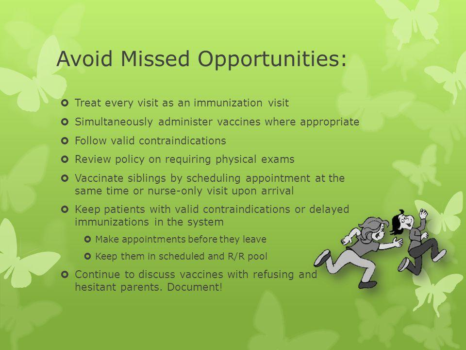 Avoid Missed Opportunities: