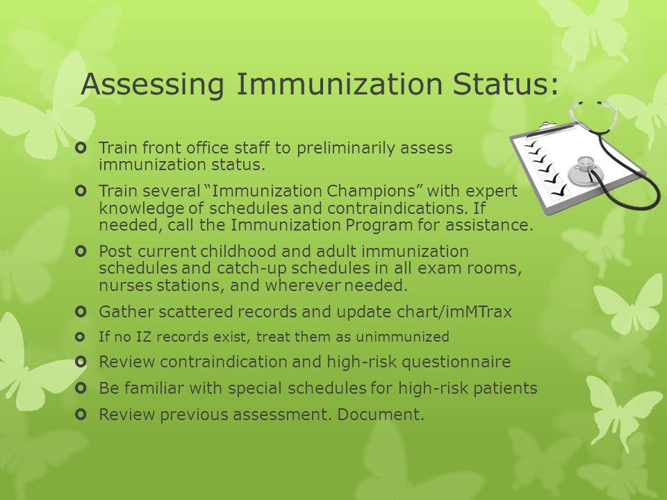 Assessing Immunization Status: