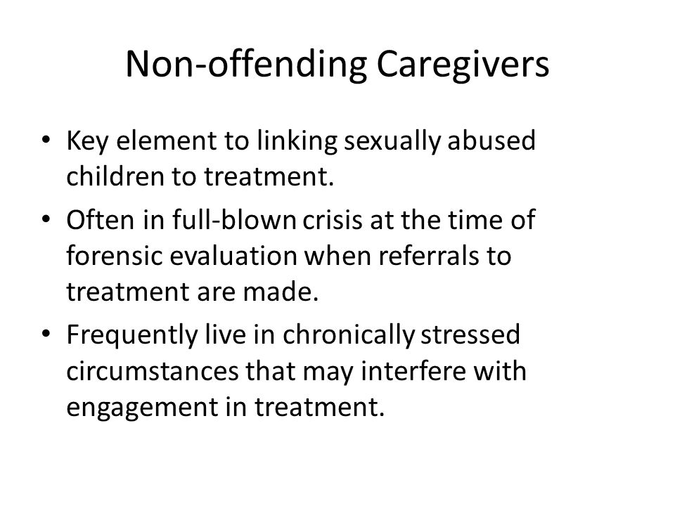 Non-offending Caregivers
