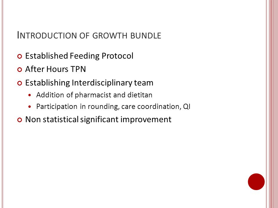 Introduction of growth bundle