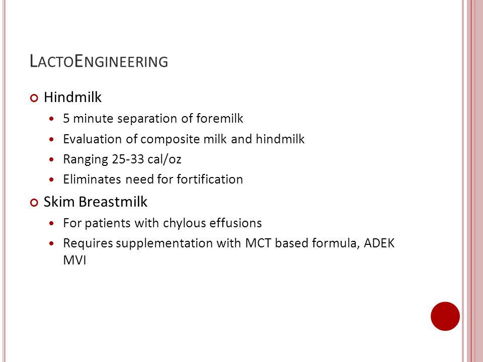 LactoEngineering Hindmilk Skim Breastmilk