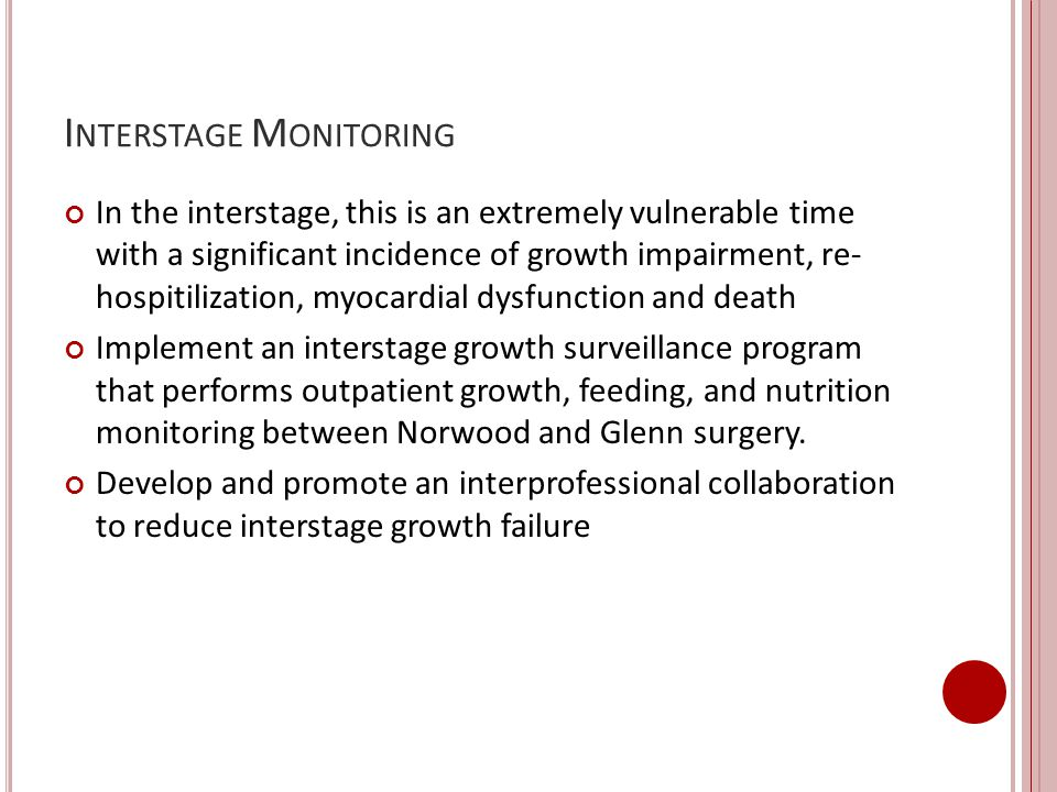 Interstage Monitoring