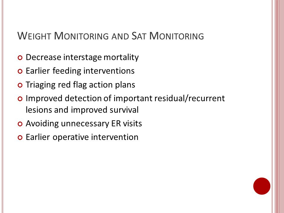 Weight Monitoring and Sat Monitoring