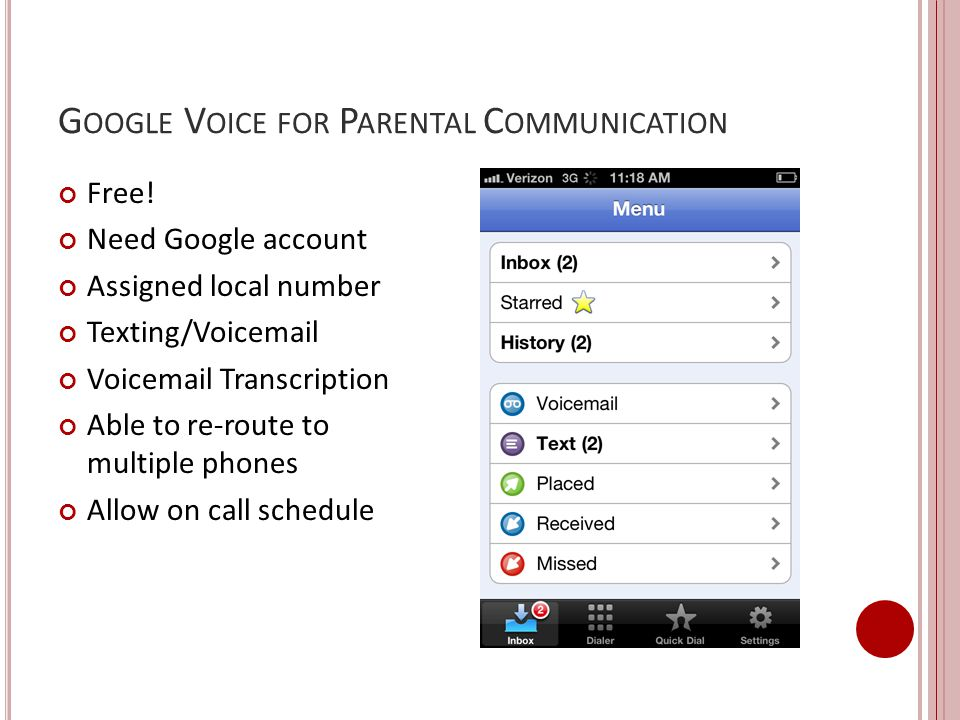 Google Voice for Parental Communication