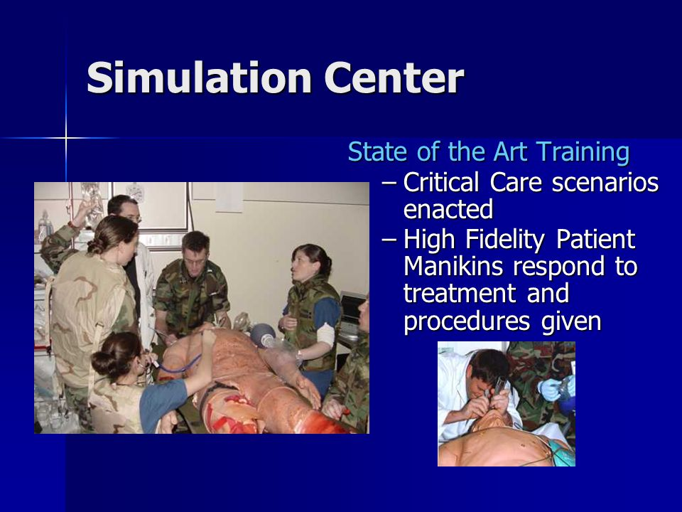 Simulation Center State of the Art Training