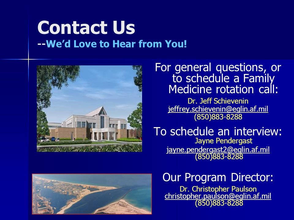 Contact Us --We'd Love to Hear from You!