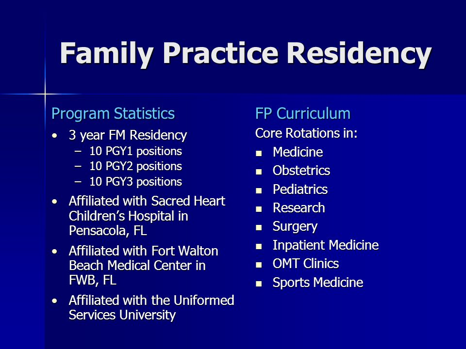 Family Practice Residency