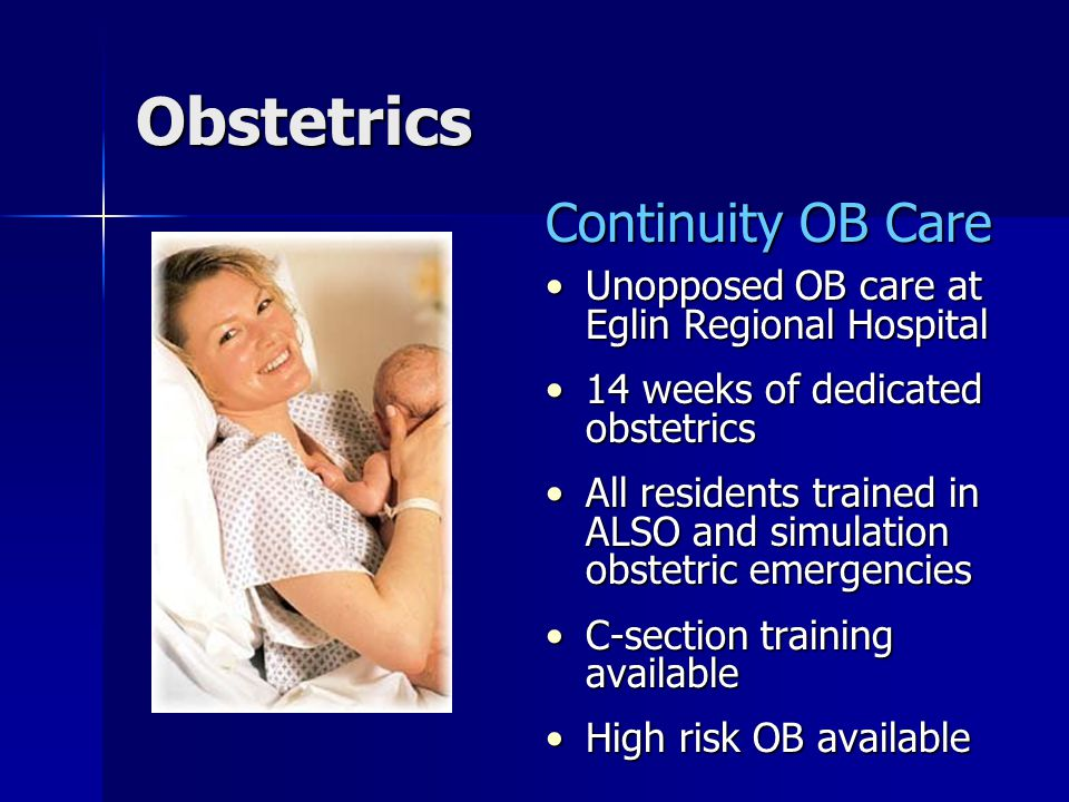 Obstetrics Continuity OB Care