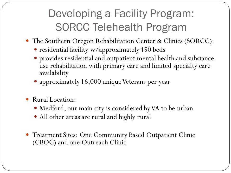 Developing a Facility Program: SORCC Telehealth Program