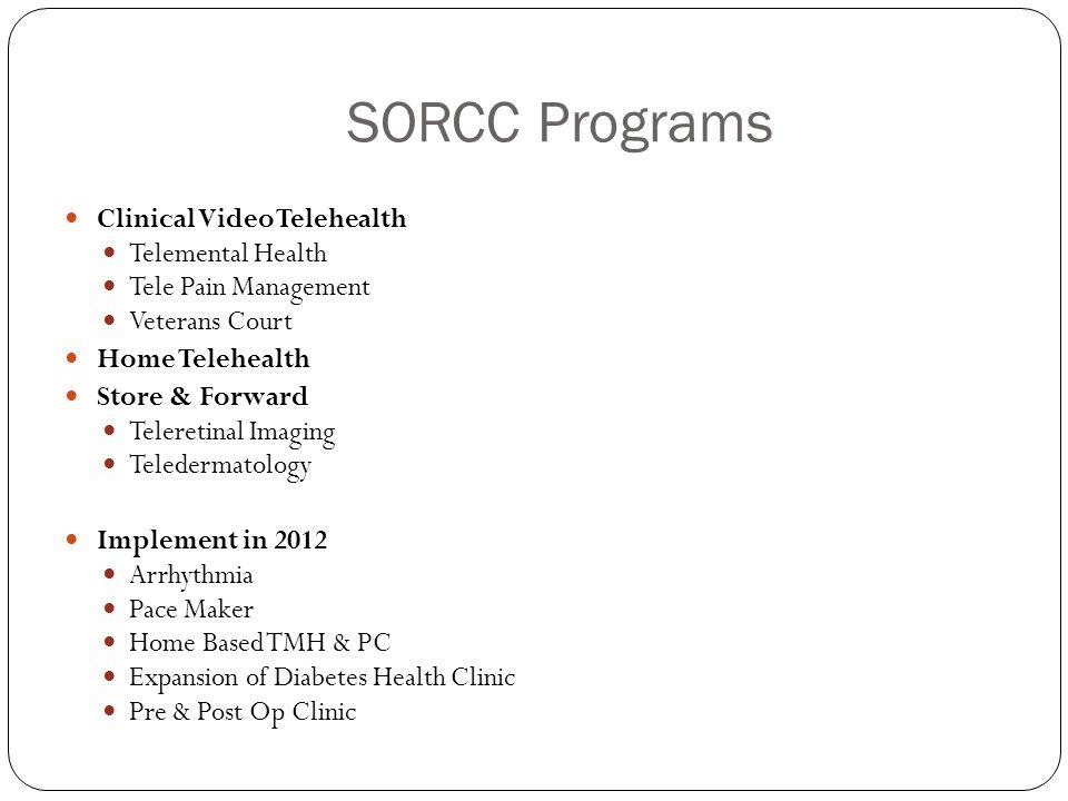 SORCC Programs Clinical Video Telehealth Telemental Health
