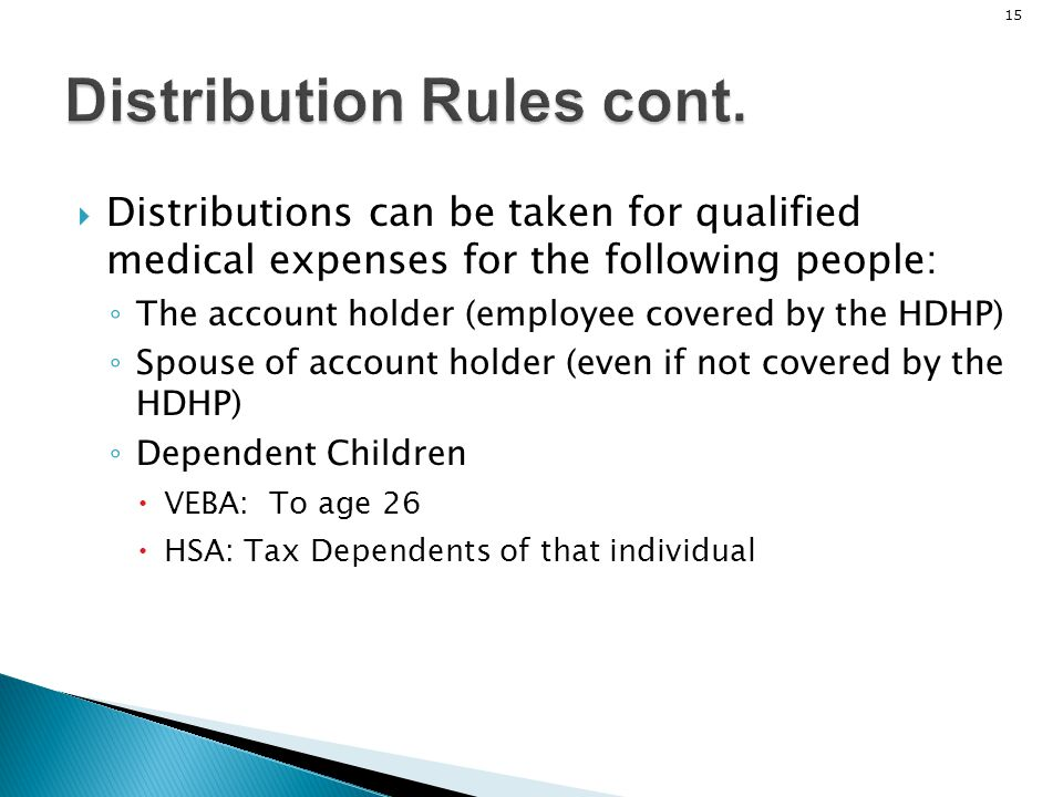 Distribution Rules cont.