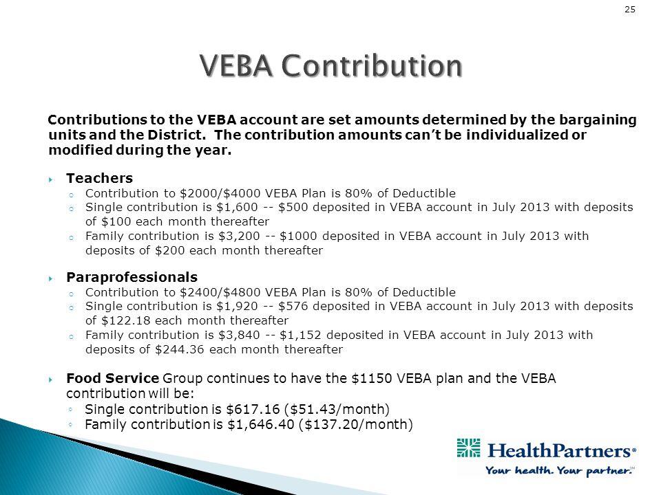 VEBA Contribution