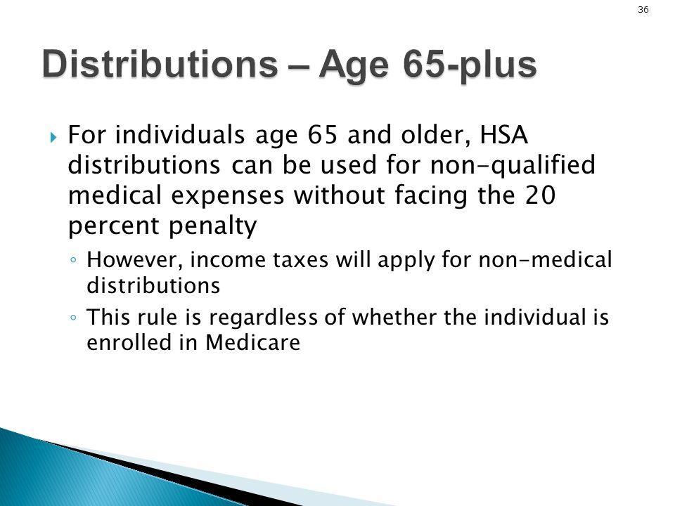 Distributions – Age 65-plus