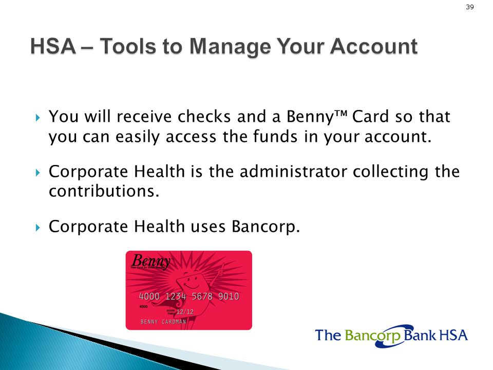 HSA – Tools to Manage Your Account
