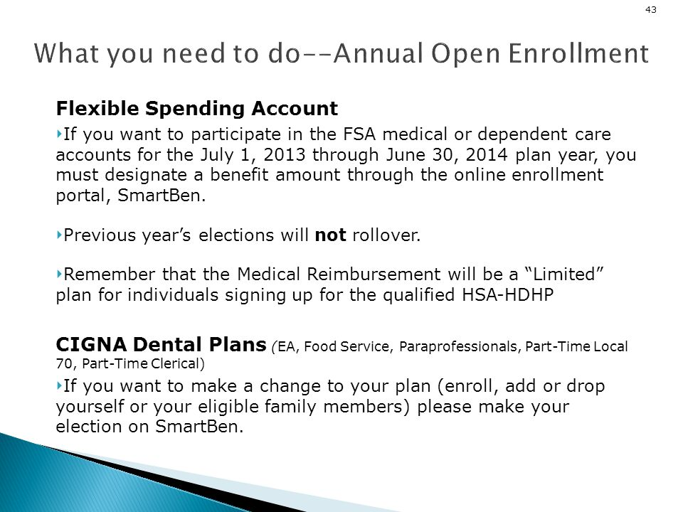 What you need to do--Annual Open Enrollment