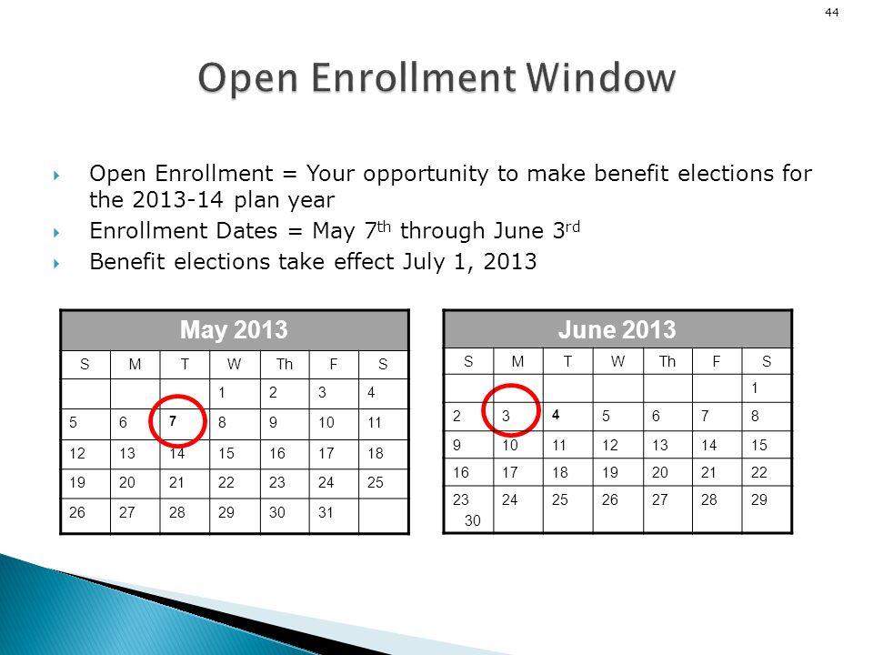 Open Enrollment Window