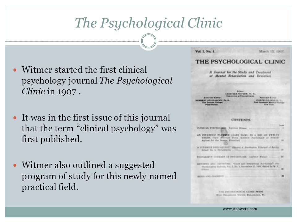 The Psychological Clinic