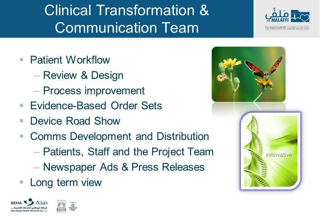 Clinical Transformation & Communication Team