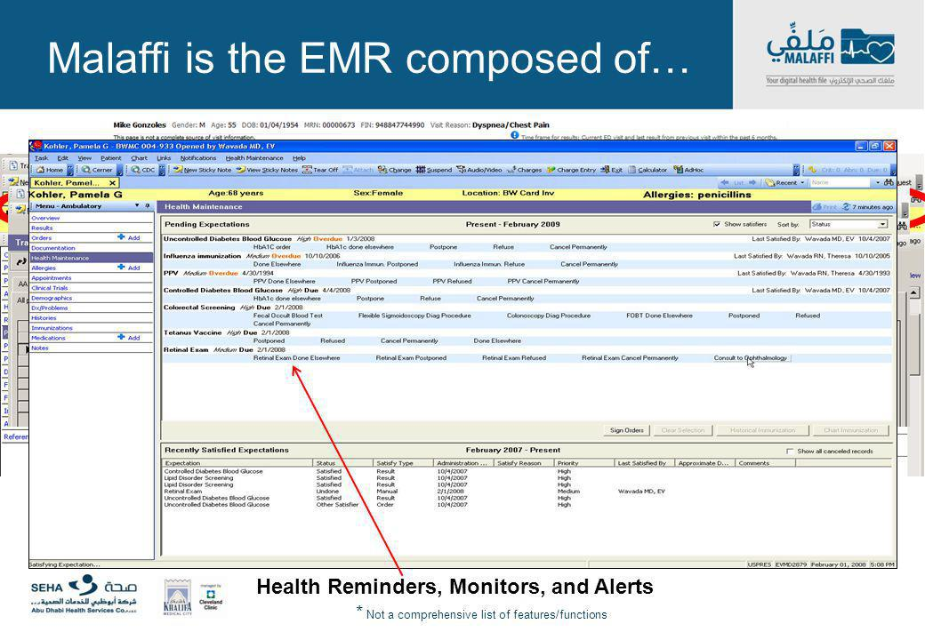 Malaffi is the EMR composed of…