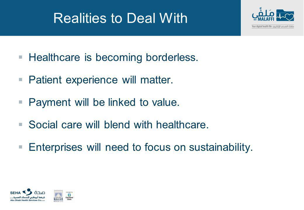 Realities to Deal With Healthcare is becoming borderless.